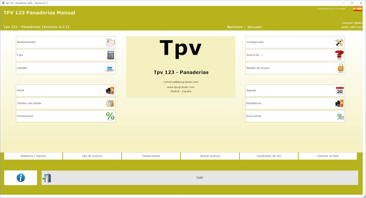 TPV Gratis para Panadería y Pastelería